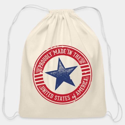 made in usa - Cotton Drawstring Bag