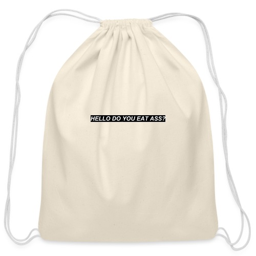 HELLO - Cotton Drawstring Bag
