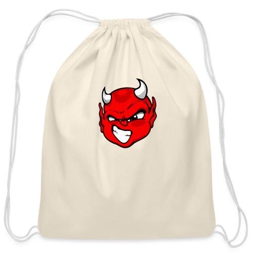 Rebelleart devil - Cotton Drawstring Bag