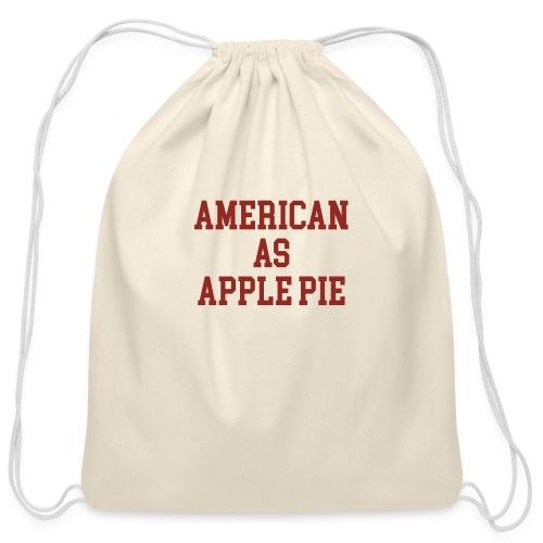 American as Apple Pie - Cotton Drawstring Bag