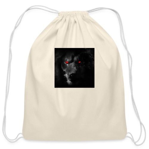 Black ye - Cotton Drawstring Bag