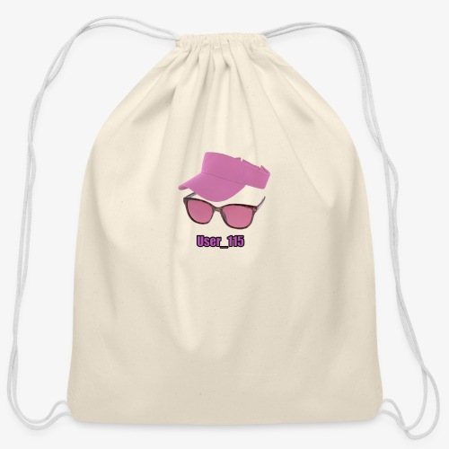Glasses And Hat - Cotton Drawstring Bag