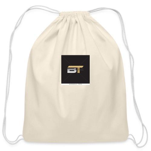 BT logo golden - Cotton Drawstring Bag