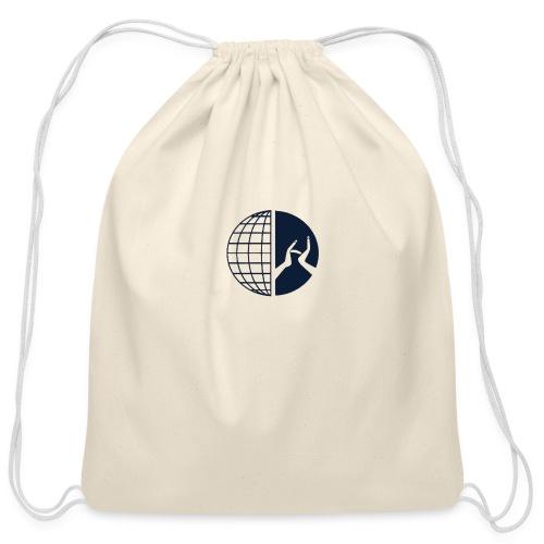 DMI Logo Dark Blue - Cotton Drawstring Bag