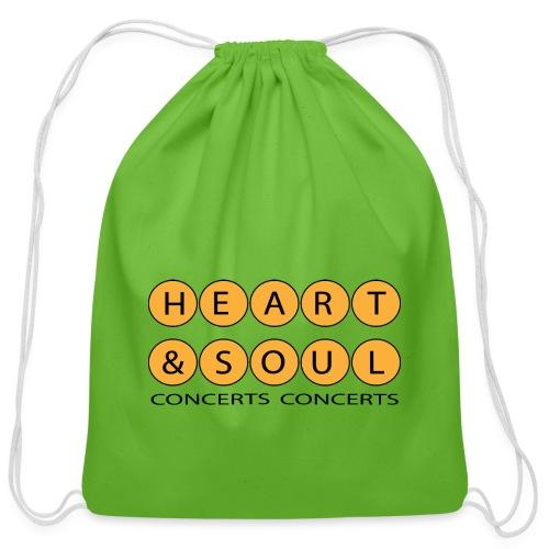 Heart Soul Concerts Golden Bubble horizon - Cotton Drawstring Bag