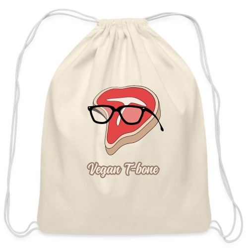 Vegan T bone - Cotton Drawstring Bag