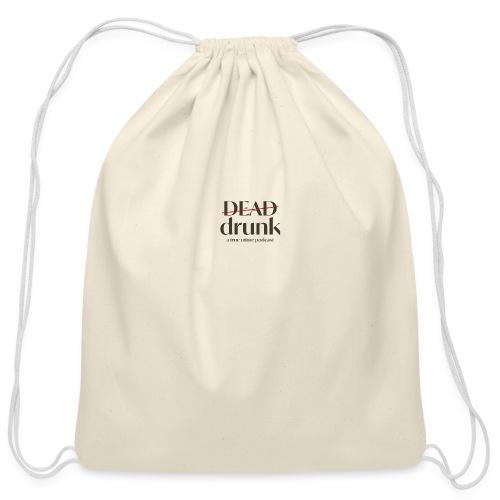 bigger dead drunk logo! - Cotton Drawstring Bag