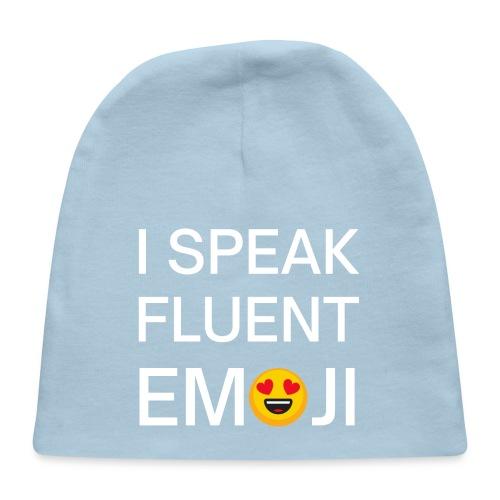 I Speak Fluent Emoticon - Smiling Face Heart eyes - Baby Cap