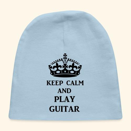 keep calm play guitar blk - Baby Cap