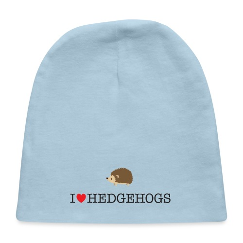 I Love hedgehogs with Cute Hedgehog Illustration - Baby Cap