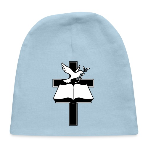 Christian Cross, Bible and Dove with Olive Branch - Baby Cap