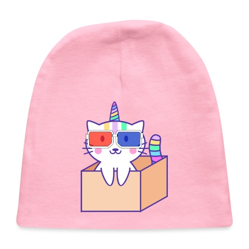Unicorn cat with 3D glasses doing Vision Therapy! - Baby Cap