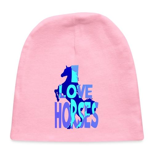 I Love Horses-blue - Baby Cap