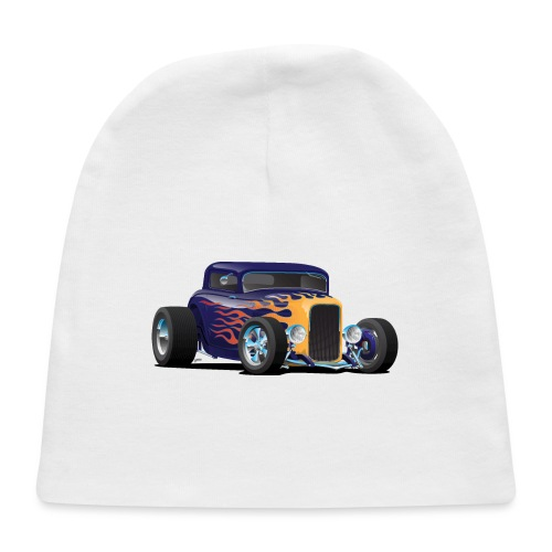 Vintage Hot Rod Car with Classic Flames - Baby Cap