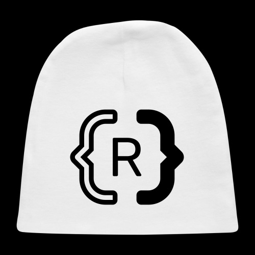 square black reswitched R logo bmx3r - Baby Cap