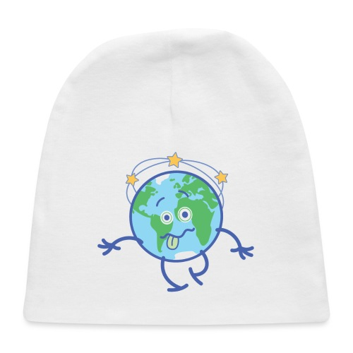 Cartoon Earth walking unsteadily and feeling dizzy - Baby Cap