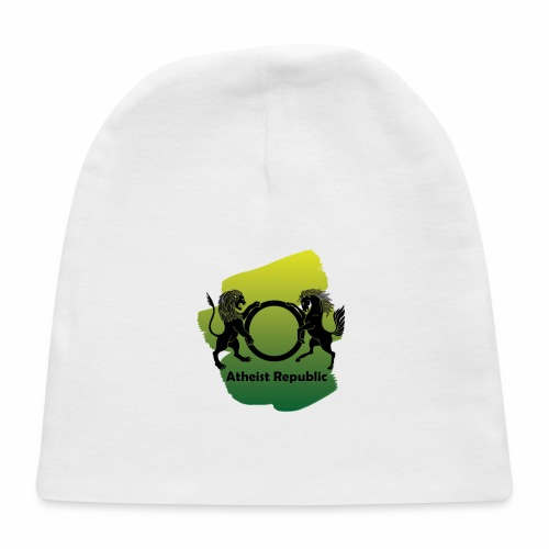Atheist Republic Logo - Yellow & Green Paint - Baby Cap