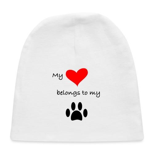 Dog Lovers shirt - My Heart Belongs to my Dog - Baby Cap