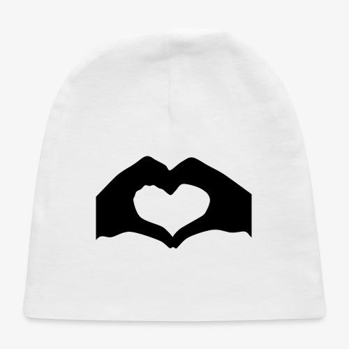 Silhouette Heart Hands | Mousepad - Baby Cap
