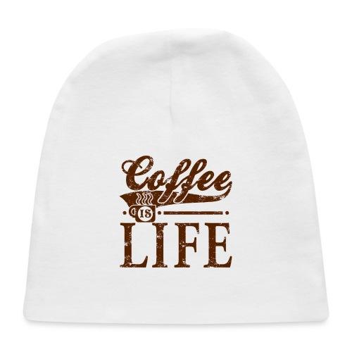 Coffee Is Life Retro Grunge Tee - Baby Cap