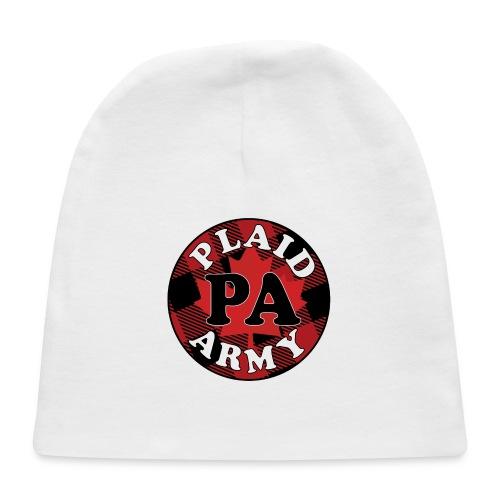 plaid army round - Baby Cap