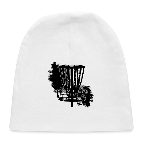Disc Golf Basket Paint Black Print - Baby Cap