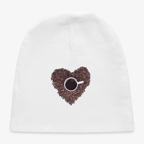 I Heart Coffee Black/White Mug - Baby Cap