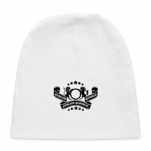 Atheist Republic Logo - Banner & Stars - Baby Cap