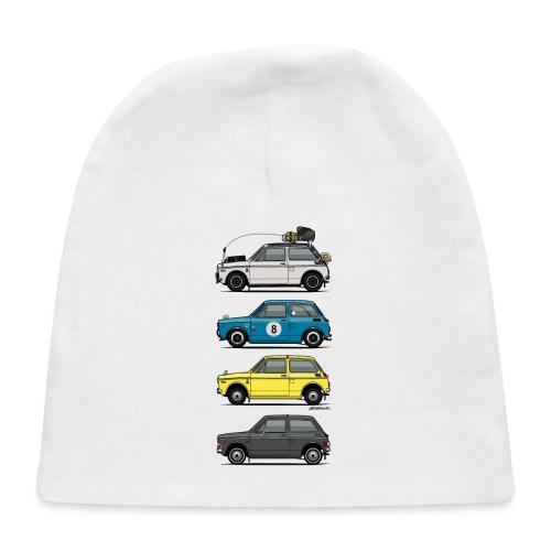 Stack of Vintage Honda N360 N600 Kei Cars - Baby Cap