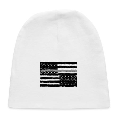 Grey Line American Flag - Baby Cap