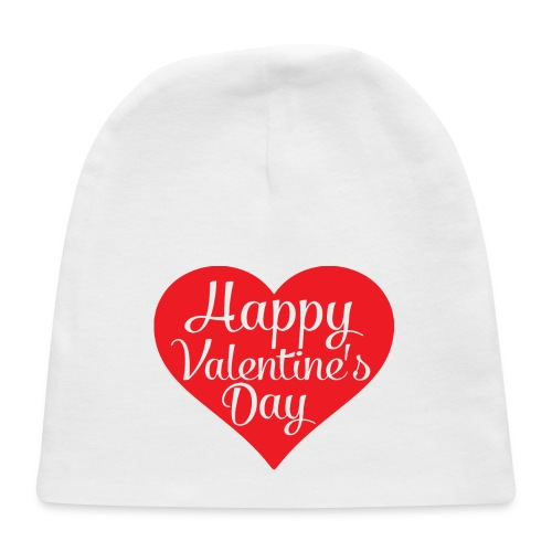 Happy Valentine s Day Heart T shirts and Cute Font - Baby Cap