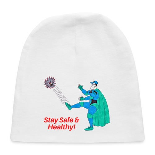 PYGOD Man kicking COVID 19 - Stay Safe Healthy - Baby Cap