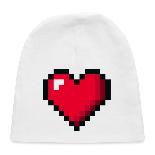Pixel 8 bit Happy Valentine s Day Heart for Gamers - Baby Cap