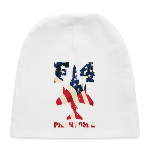 F-4 Phantom II Aircraft with USA Flag Overlay - Baby Cap