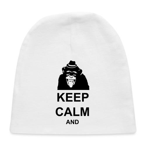 KEEP CALM MONKEY CUSTOM TEXT - Baby Cap