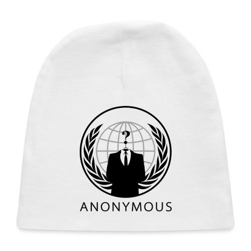 Anonymous 1 - Black - Baby Cap