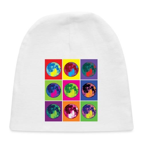 Abstract Retro Moon Art - Baby Cap
