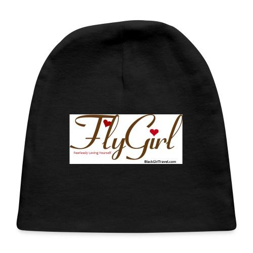 FlyGirlTextGray jpg - Baby Cap