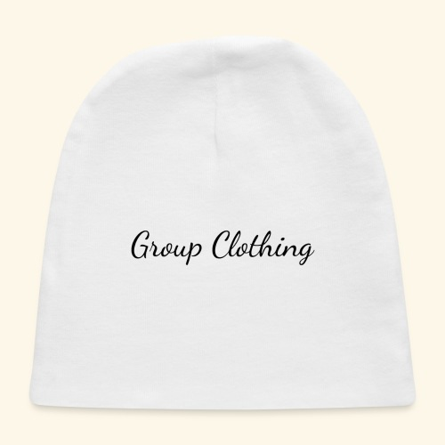 Cursive Black and White Hoodie - Baby Cap