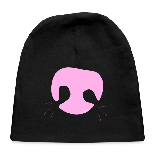 Pink Whimsical Dog Nose - Baby Cap