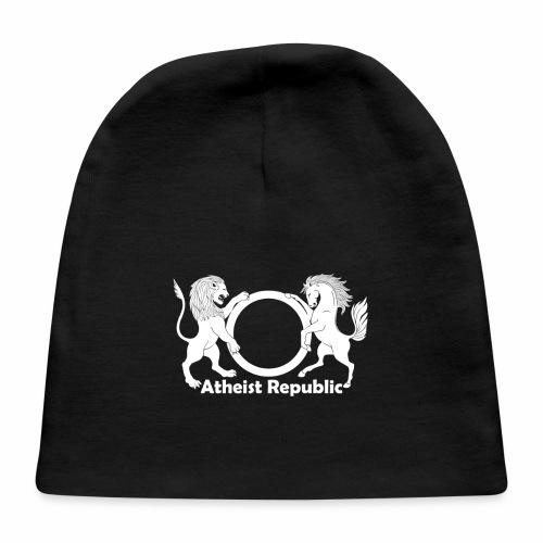 Atheist Republic Logo - White - Baby Cap