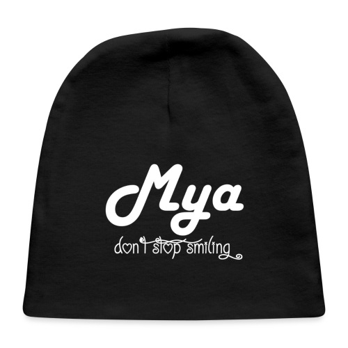 Mya, Dont Stop Smiling (White) - Baby Cap