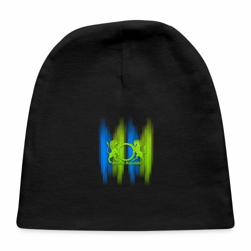 Atheist Republic Logo - Blue & Green Stripes - Baby Cap