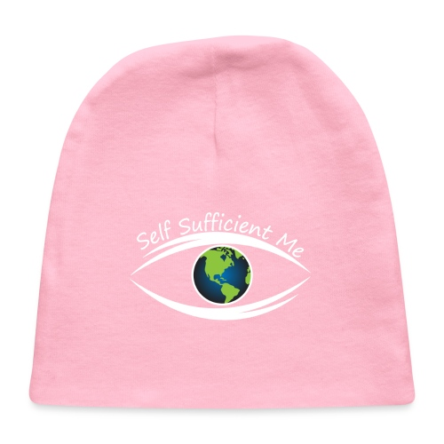 Self Sufficient Me Logo white small coy design - Baby Cap
