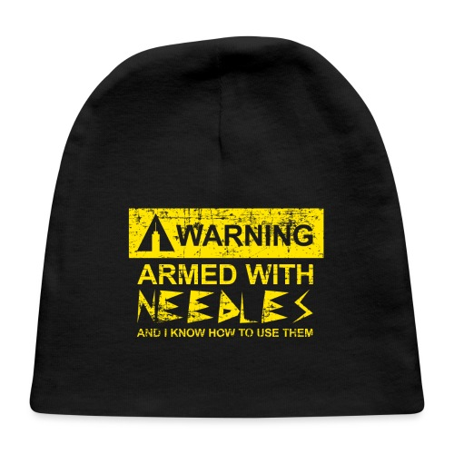 WARNING Armed With Needles - Baby Cap