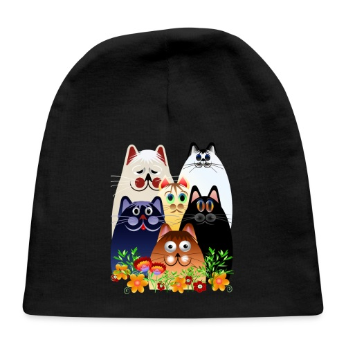 GARDEN CLOWDER of CATS - Baby Cap