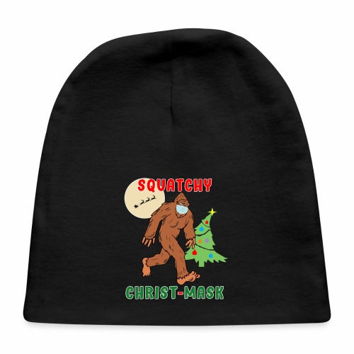 Bigfoot Squatchy Christmas Mask Social Distance. - Baby Cap