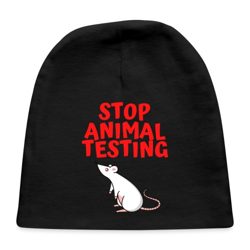 Stop Animal Testing - Defenseless White Mouse - Baby Cap