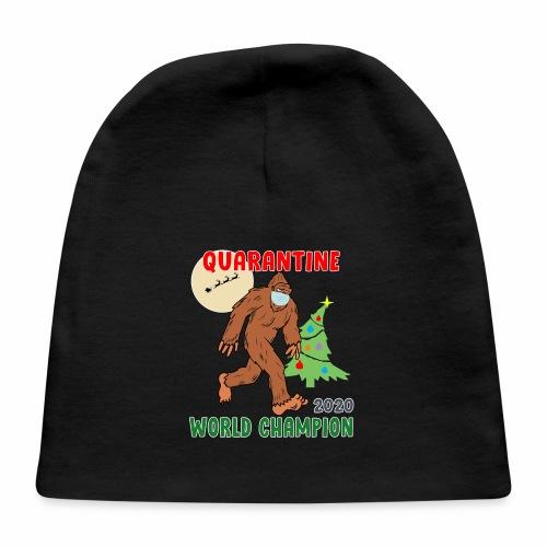 Quarantine World Champion Sasquatch Mask Christmas - Baby Cap