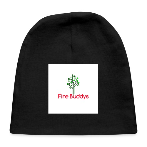 Fire Buddys Website Logo White Tee-shirt eco - Baby Cap